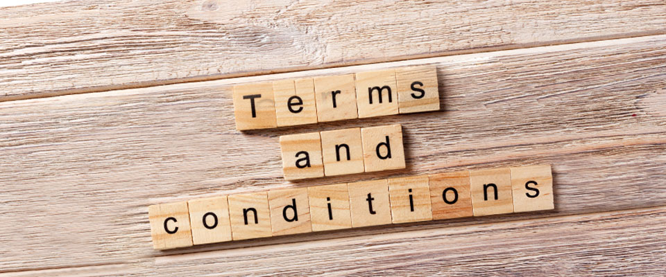 Terms and conditions-Banner